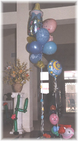 {Balloon Decoration for Baby Shower}