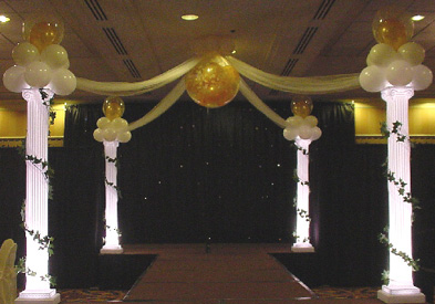 {Balloon Victorian Columns for your Wedding Party}
