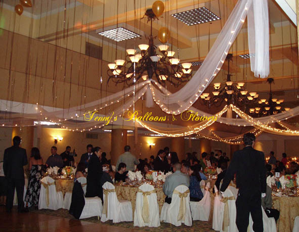 {Decoration can be used at receptions to create a more intimate atmosphere}