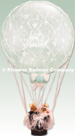 {Uplifting Love Just Married Hot Air Balloons}