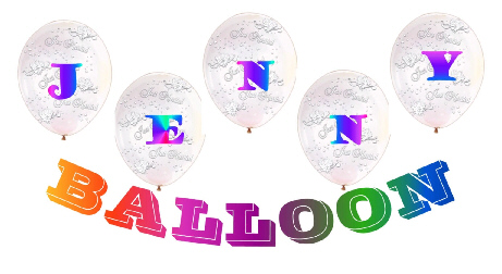 {Welcome to Jenny's Birthday Balloon Homepage!}