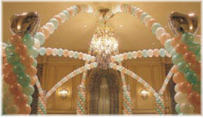 {String-of-Pearl Arches can be used at receptions to create a more intimate atmosphere.}