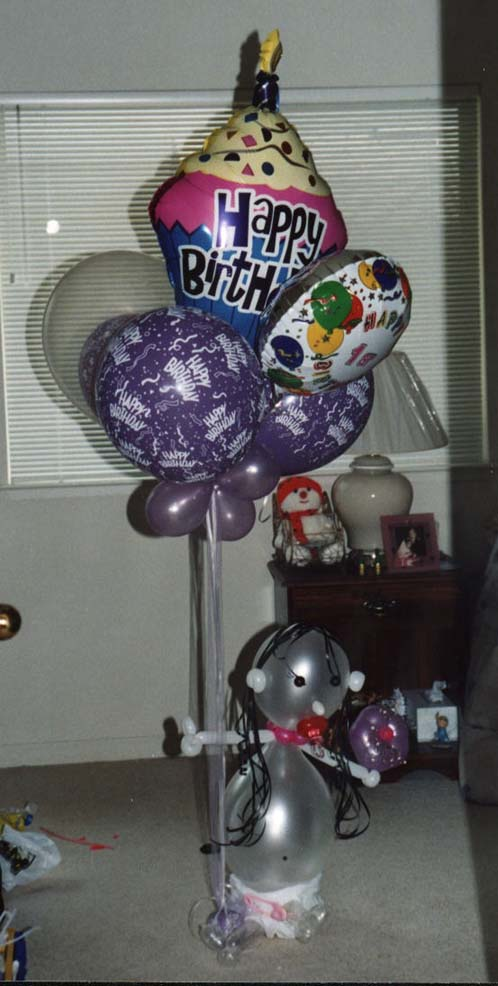 {Birthday Girl Balloon Bouquet}