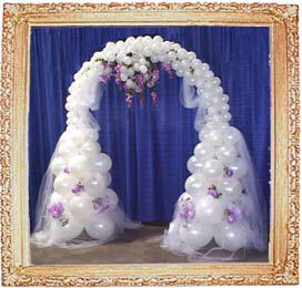 {Balloon Arch for Entrance}